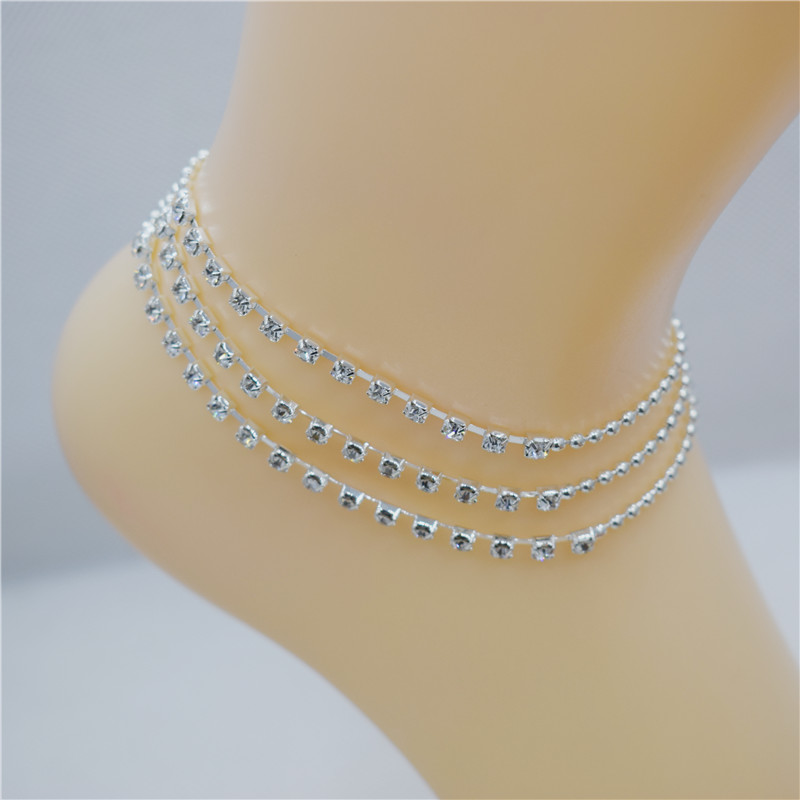 Utrend Multi layer Sexy Crystal Rhinestone Anklet Foot Chain Summer Leg  Bracelet Charm Anklets Beach Foot Wedding Jewelry Gift-in Anklets from  Jewelry ... a78ef704794c