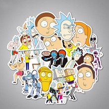 35Pcs/lot Drama Rick and Morty Stickers Decal For Car Laptop Bicycle Notebook Waterproof Funny brinquedos Toys for Children