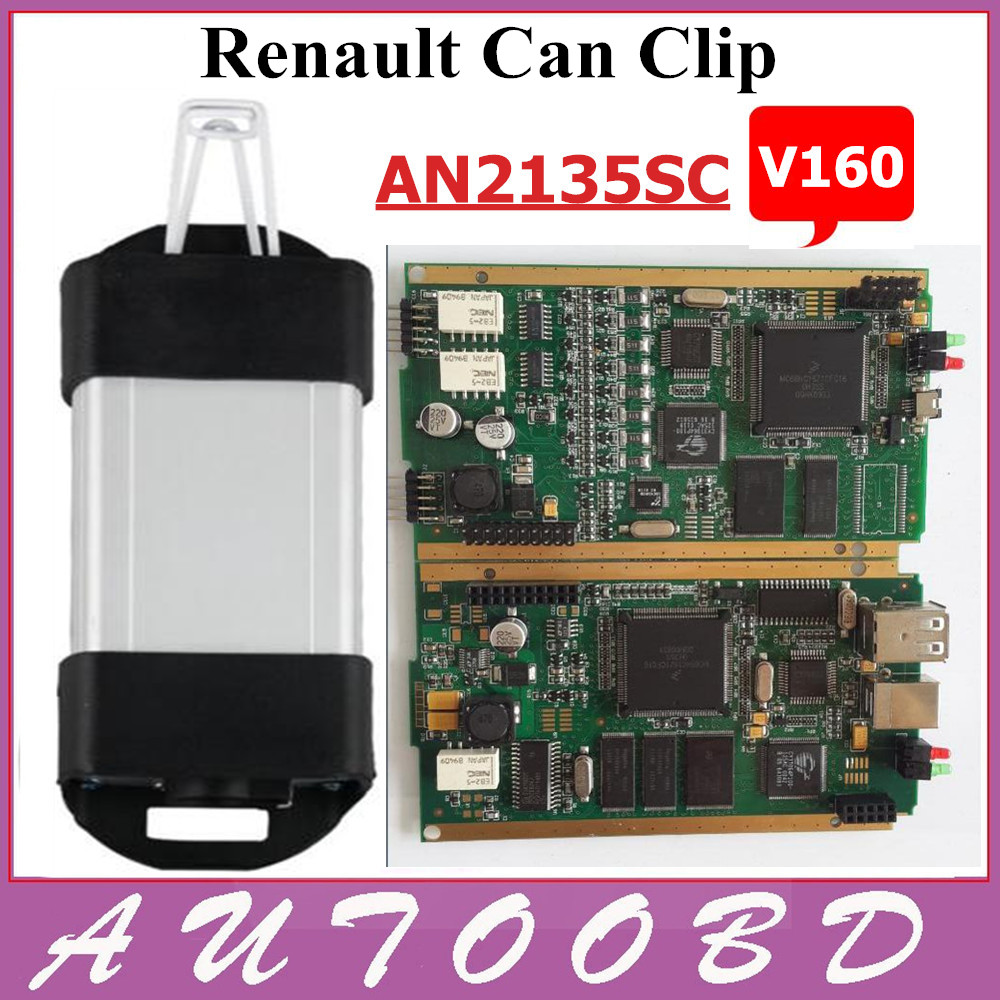 Renault Can Clip V160 Professional Diagnostic Tool Support Multi Language With CYPRESS AN2135SC 2136SC Chip NEC