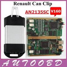 Renault Can Clip V160 Профессиональный Диагностический Инструмент Поддержка Нескольких Языков С CYPRESS AN2135SC/2136SC Чип NEC Реле авто Инструмент