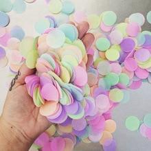 25g rond confettis papier de soie rose points remplissage ballons bébé douche licorne fête danniversaire décorations enfants bricolage accessoires