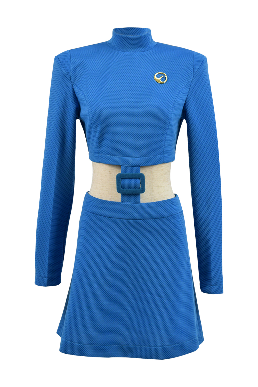 Black Mirror Season 4 Nanete Cole Cosplay Costume Women Dress Blue Uniform