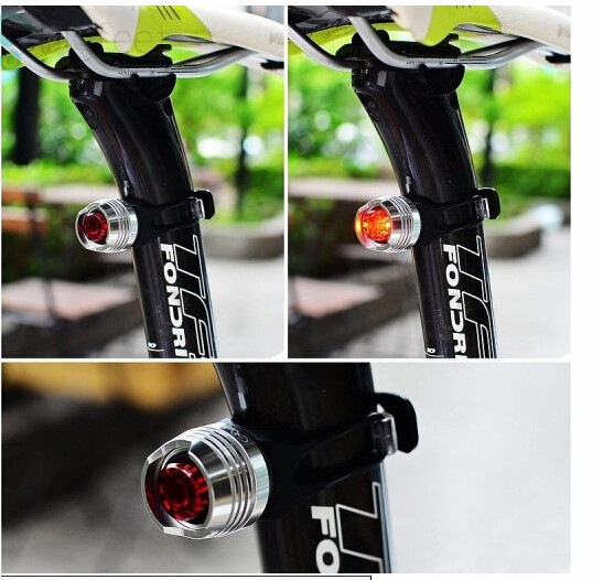 Bike Bicycle Cycling Led Warning Lamps Front Rear Tail Helmet Safety Flash Light