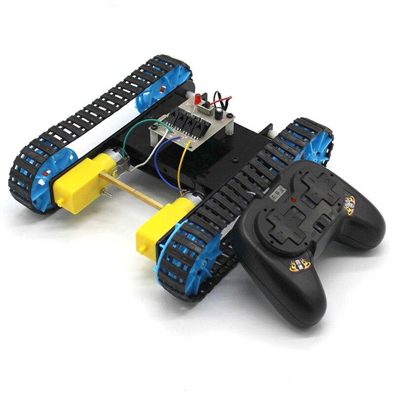 feichao diy montado modelo de tanque com controle remoto robo chassi rastreador caterpillar material do veiculo