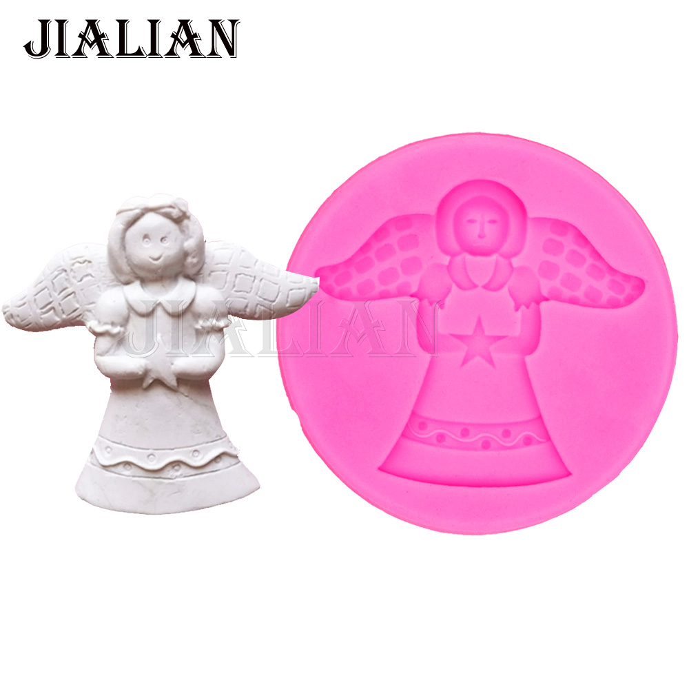 Angel Silicone Mold Gumpaste Chocolate Fimo Clay Candy Molds Fondant ...
