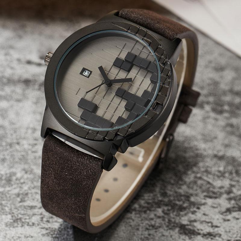 2020 créatif minimaliste Style montre hommes trois dimensions étanche Date Sport Quartz montre femmes hommes amant Unique montre cadeaux