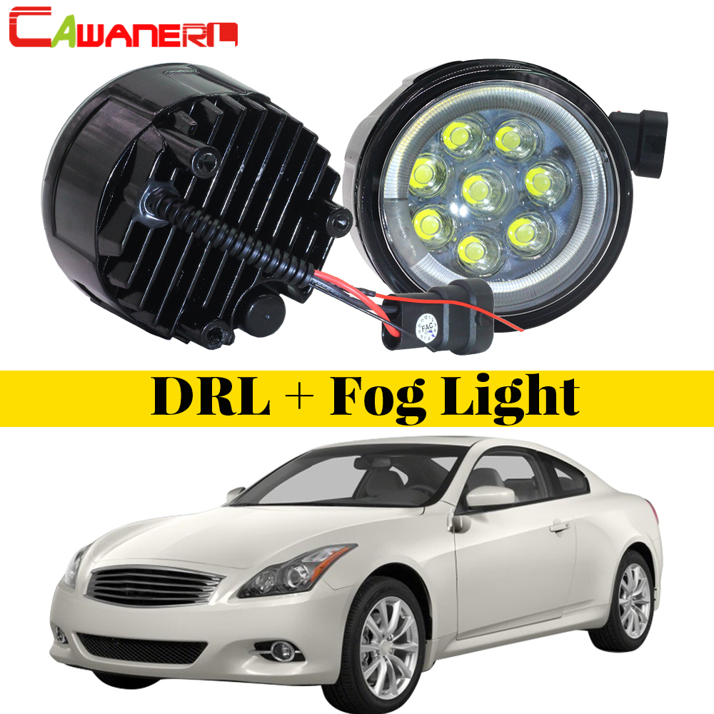 Cawanerl 2 Pieces Car Accessories LED Fog Light Angel Eye Daytime Running Light 12V For Infiniti G G25 G37 2011 2012 2013Cawanerl 2 Pieces Car Accessories LED Fog Light Angel Eye Daytime Running Light 12V For Infiniti G G25 G37 2011 2012 2013