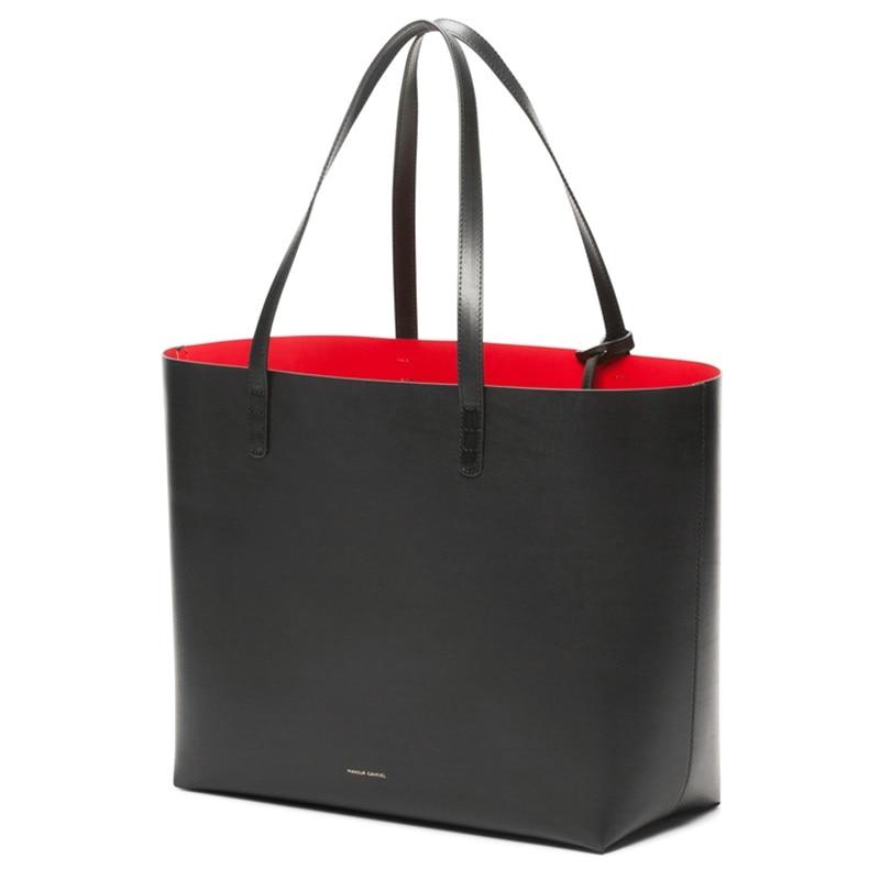 ФОТО Mansur Gavriel Tote Bag Women Designer Handbags Famous Leather Shoulder Bags Large Casual Tote Bag Ladies Composite Bags Set