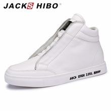 JACKSHIBO Automne Hiver marque hommes cheville bottes De Mode métrosexuel homme hip hop bottes Blanc populaire appartements bottes hommes bot