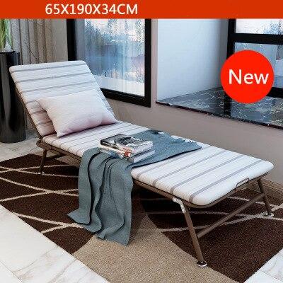 Simple Modern Folding Single Bed Office Living Room Balcony Lazy Noon Break Folding Bed Soft Cotton Fabirc Adjustable Sofa Bed - 6