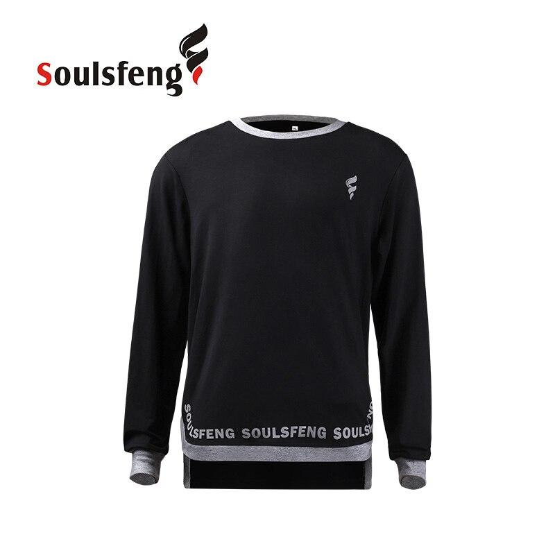 Soulsfeng hommes entraînement T-Shirt Fitness Gym sport Tee haut formateur séchage rapide confort Anti-électrostatique course chemise à manches longues