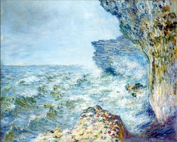 High quality Oil painting Canvas Reproductions The Sea at Fecamp (1881) By Claude Monet hand painted