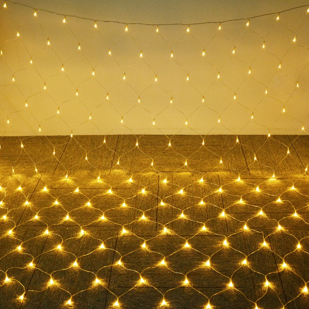 1.5*1.5m/3*2m/6*4m Led Garden Holiday Light Net Mesh Decoration String Outdoor Waterproof Wedding Party Christmas Tree Windows Shrink-Proof