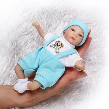 8 20cm Mini Palm little doll Lifelike Real Baby Doll Silicone Vinyl Reborn Dolls Babies Bebe Reborn Girl Boy Brinquedos bonecas warkings reborn