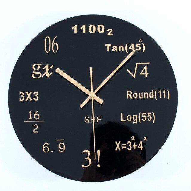 aliexpress : buy 1piece pop quiz math wall clock mathematical