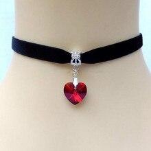 Best Crystal Heart Choker Necklace Cheap