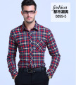 Men's Plaid shirts Tops plus size 2017 Spring British style Pure cotton Long sleeves Dress shirt Men Casual retro Plaid blouses