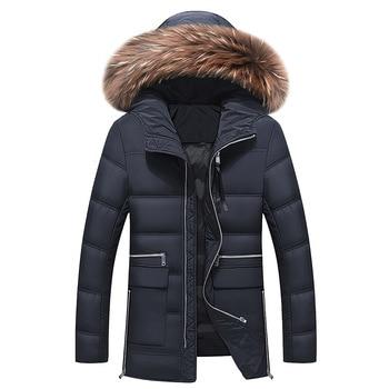 Winter Jacket Men 2017 New Men's Down Jacket Hooded Duck Down Winter Overcoat Plus Size Outwear Jacket Men Winter Down Coat
