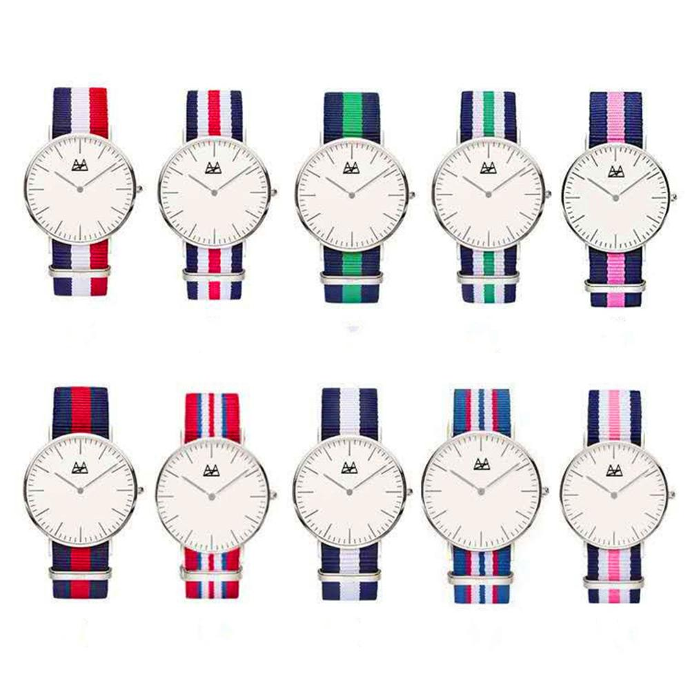 18 Styles Ultra Slim Quartz Watch Simple Nylon Band Relogio Masculino  Fashion woman men Wristwatches Geneva Ladies Quartz Watch Наручные часы