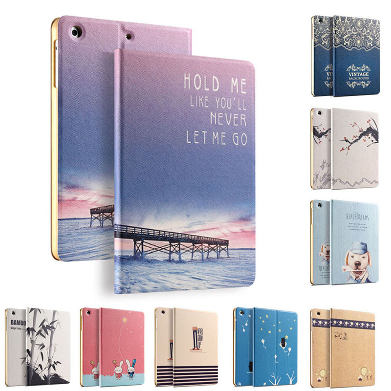 High Quality waterproof Cartoon protective Case For Apple IPAD Mini 1 2 3 Leather Cover for IPAD Tablet 7.9 Inch Stand Case cartoon painted flower owl for kindle paperwhite 1 2 3 case flip bracket stand pu cover for amazon kindle paperwhite 1 2 3 case