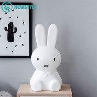 50cm Miffy Rabbit LED Night Light Baby Children Bedroom LED Night Lamp Lovely Cartoon Decorative Lamp for Kids Gift