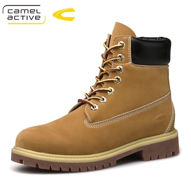 Unta Aktif Baru Trendi Keren Gaya Pria Pergelangan Kaki Sepatu Bot Barat  Sepatu Kulit Split Tinggi c7f072bceb