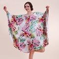 AFUMAN Hot sexy lingerie Solto Lazer desgaste faux seda camisola feminina tamanho grande camisa bat camisola sleepwear robe roupão