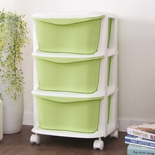 Plastic small storage box drawer organizer of toy storage makeup clothes box macarons storage cabinet for