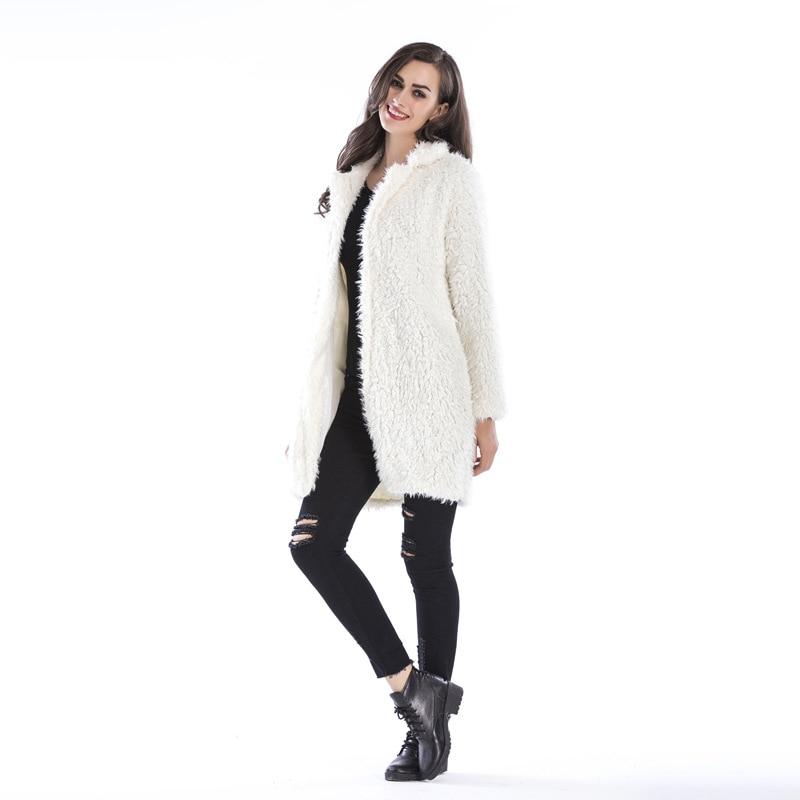 2018 Yuaer Blouson De Femmes Hiver noir En Femme Cardigans bourgogne Fausse À Dames Pull Manteau Beige Outwear Fourrure rose Chaud Capuche Xi Automne Vestes gris 5UqdxCUwn