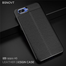For Oppo A5 Case Soft Silicone Luxury PU Leather Style Anti-knock Phone Cover Funda 6.2 inch BSNOVT