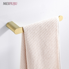 Gold Brushed Towel Bar Stainless Steel SUS 304 Wall Mounted Decorative Towel Rack Holder Bathroom Hardware Bathroom Accessories стоимость