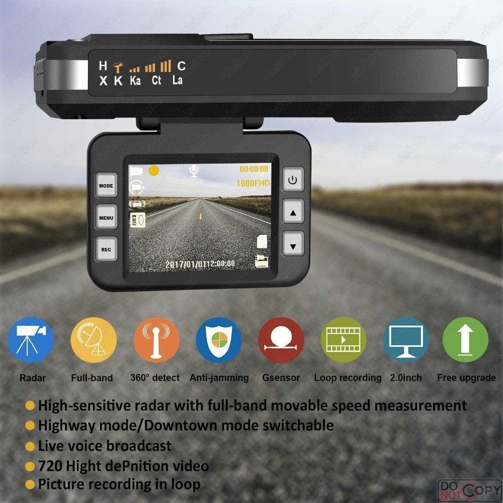 DUBY 2 dans 1 HD 720 P Dash Cam g-sensor dvr de voiture avec Band Full Auto Détecteur de Radar Voix alerte Orignal Véhicule Vidéo Enregistreurs