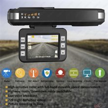 DUBY 2 in 1 HD 720P Dash Cam G-sensor Car DVR with Full Band Auto Radar Detector Voice Alert Orignal Vehicle Video Recorders цена 2017