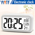 Fashion electronic clock LED temperature control sound LED display, electronic desktop dig clockital desk