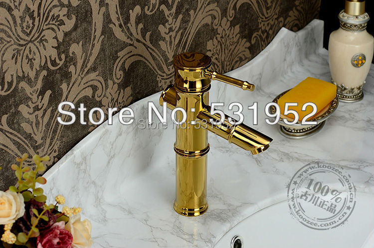 ФОТО free shipping brass  copper basin faucet basin mixer bamboo faucet bathroom tap
