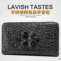 Diwei 2017 новая горячая бесплатная доставка мужчины крокодил мешок руки мужчины бумажник долго молния сумки досуга подлинные сумки мужчины