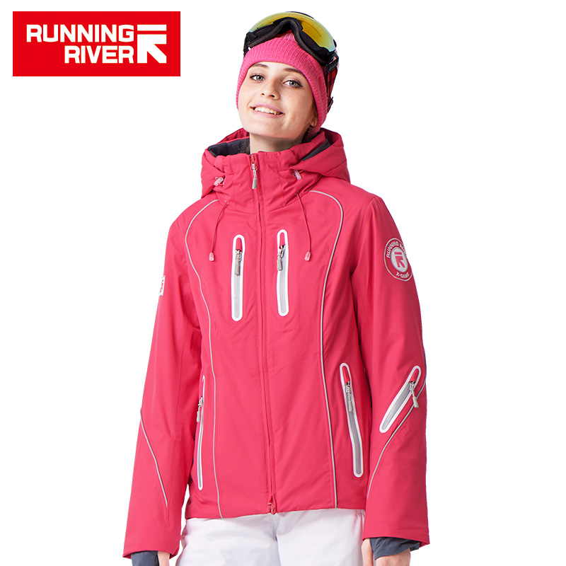 RUNNING RIVER Brand Women Ski Jacket Snowboard Ship From Russia & China Size S-3XL High Quality Warm Women Winter Jacket #A4015