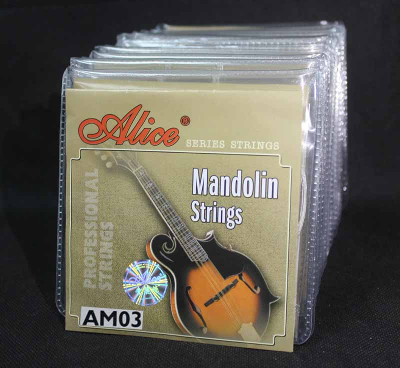 20 Sets Alice Direct AM03 Stainless Steel Silver Plated Coated Copper Alloy Wound Mandolin Strings Light