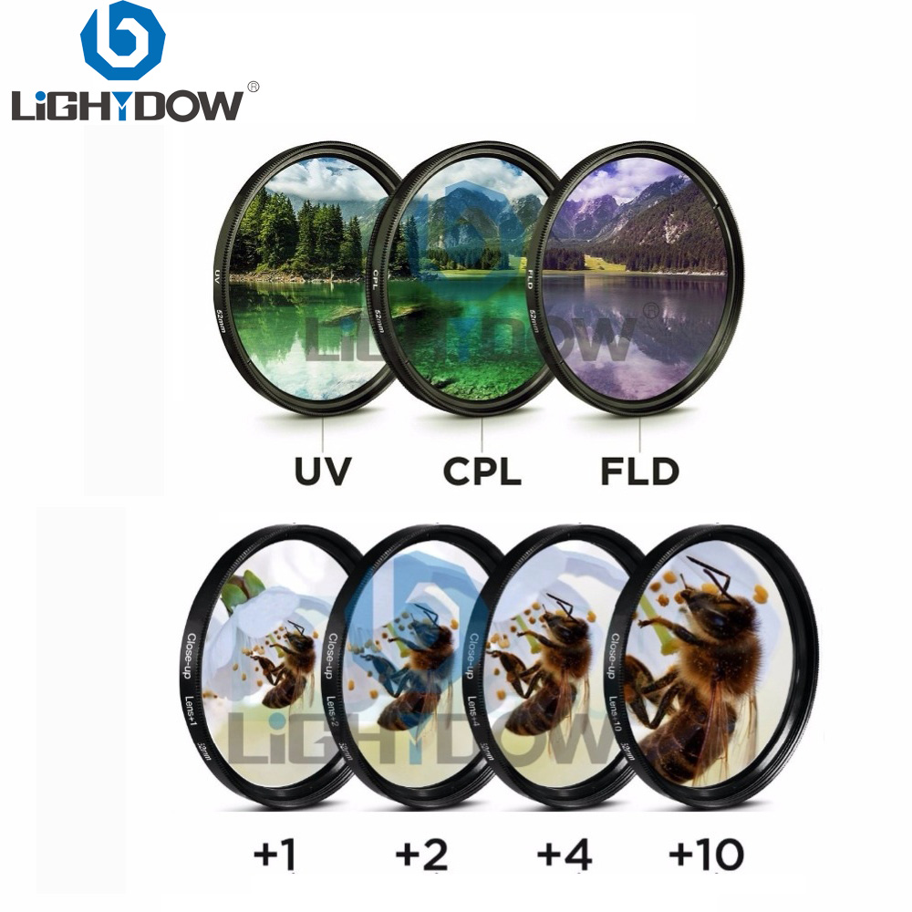 Lightdow 7 in 1 Lens Filter Kit Close Up +1+2+4+10 UV CPL FLD Filter for Cannon Nikon Sony Pentax Olympus Leica Camera LensLightdow 7 in 1 Lens Filter Kit Close Up +1+2+4+10 UV CPL FLD Filter for Cannon Nikon Sony Pentax Olympus Leica Camera Lens