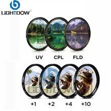 Комплект фильтров для объектива Lightdow 7 в 1 Close Up + 1 + 2 + 4 + 10 UV CPL FLD фильтр для объектива камеры Cannon Nikon sony Pentax Olympus Leica