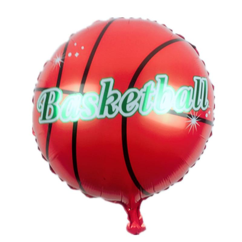 XXPWJ XXPWJ Store XXPWJ Free shipping new 18-inch children's toys basketball Foil Balloons birthday party decoration balloon wholesale  I-121