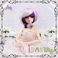 Шикарный короткий фиолетовый белый смешанный bjd куклы парики 1/3 1/4 1/6 1/8 для выбора