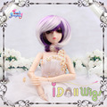 Chic short purple white blended bjd doll wigs 1/3 1/4 1/6 1/8 for choice