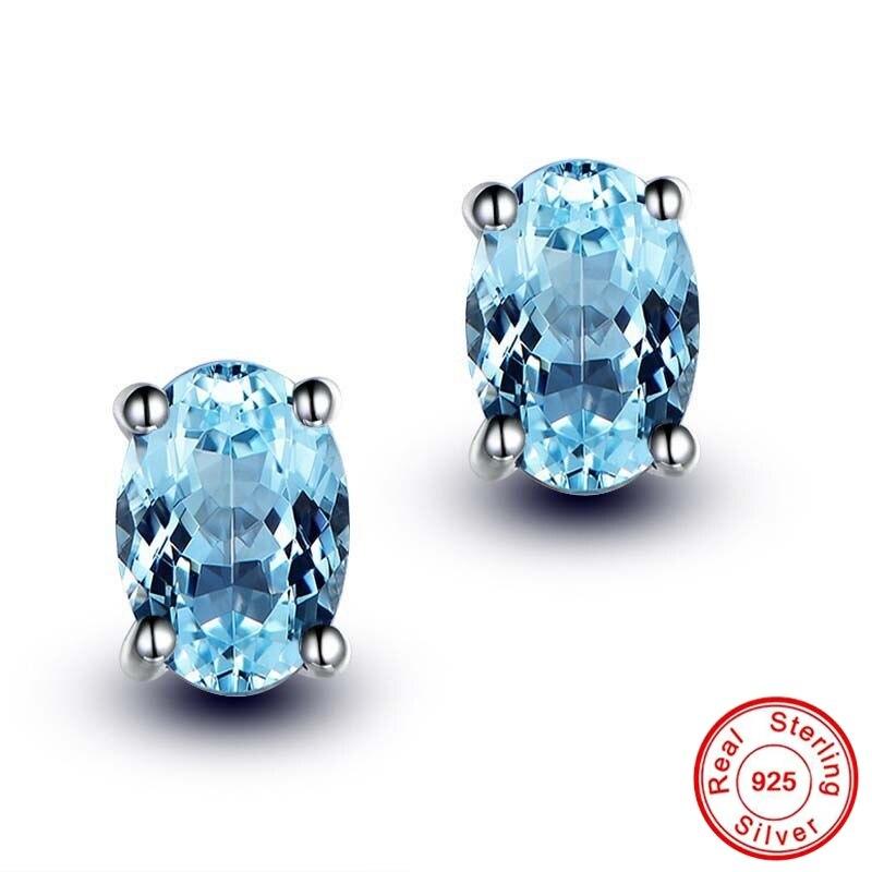Pas faux bijoux fins boucles d'oreilles topaze S925 en argent Sterling diamant luxe boucles d'oreilles femmes bijoux personnalisés