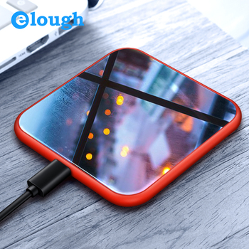 Elough Wireless Charger For iPhone X 8 Plus Fast Charging for Samsung S9 S8 Note 8 Mobile Phone Charger 10W QI Wireless Charger