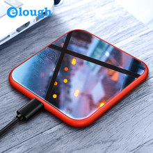 Elough Wireless Charger For iPhone X 8 Plus Fast Charging for Samsung S9 S8 Note 8 Mobile Phone Charger 10W QI Wireless Charger(China)