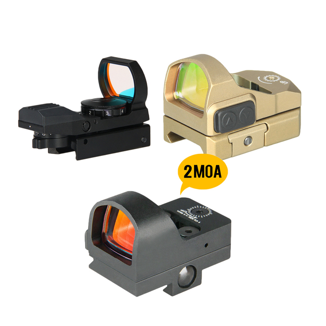 PPT Tactical Red Dot 4 Reticle Red Dot Scope Red Dot Sight Reticle Reflex Sight For 22mm Rail Hunting PP2-0091A
