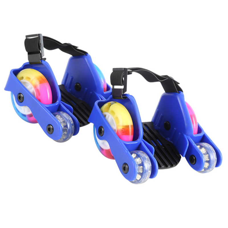 Kids Flashing Roller Skating Shoes Children LED Small Pulley Flash Wheel Heel Roller Skates Sports Roller Skate Shoes