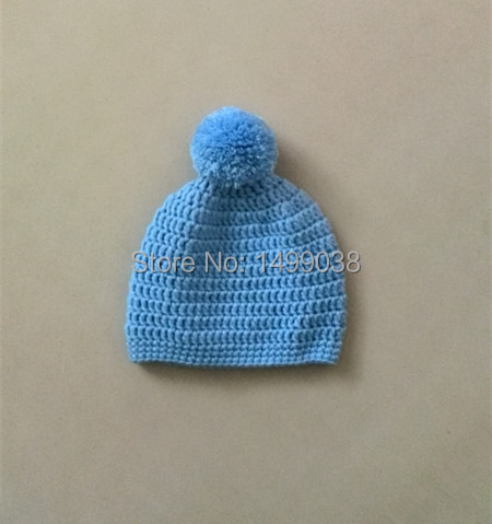 882aab7cfe895 Chapéu de bebê recém nascido       crochet baby boy beanie pom pom ...