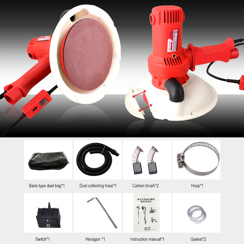 AC220V 600 2300r min Wall Putty Polisher Grinding Power Machine Portable Dry Wall Sander Grinding Machine with a Set Accessories in Polishers from Tools